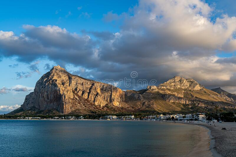 Beautiful view of  San Vito Lo Capo. Beautiful view of San Vito Lo Capo Italy Sicily stock photo
