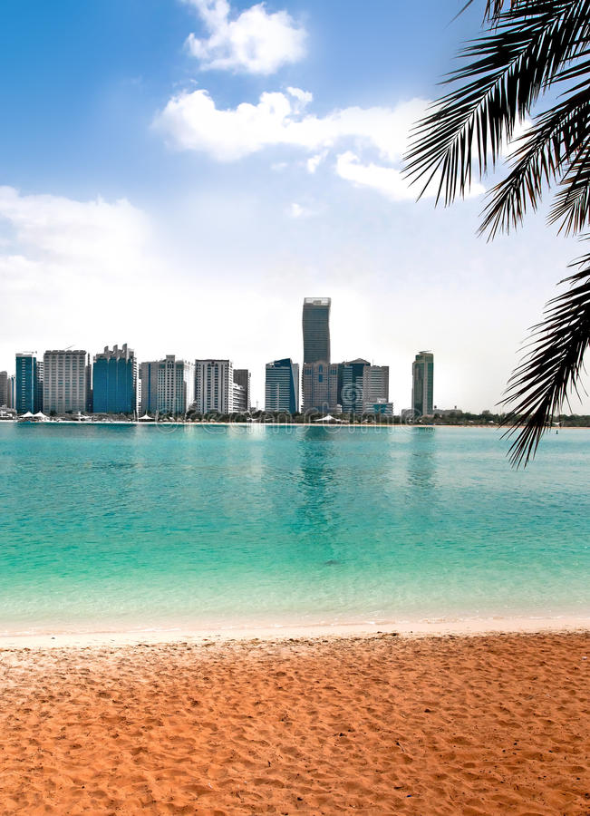 Beautiful View Of The Sandy Beach Stock Photography