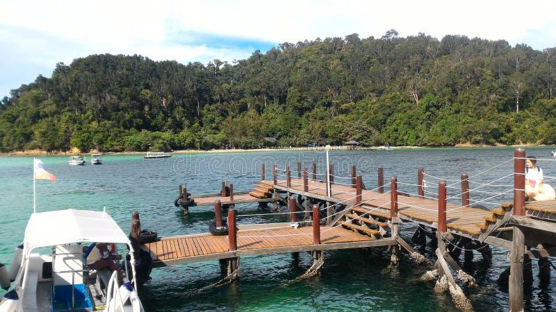 Beautiful view at Sapi Island Sabah Borneo Malaysia stock images