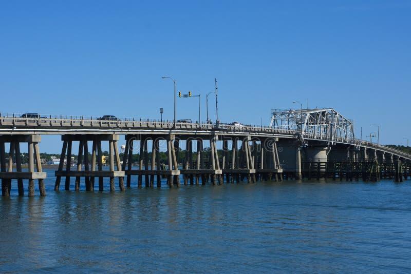 Sea Island Parkway Bridge Rotating, Beaufort, SC royalty free stock photos