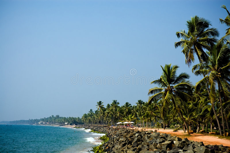 Beautiful view of seaside at sunny day stock images