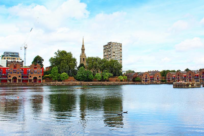 Shadwell Basin Central London Great Britain stock images