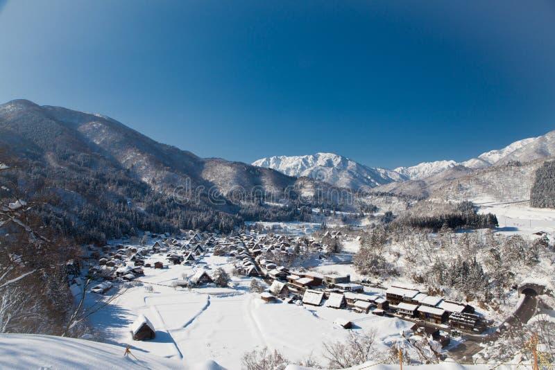 Beautiful view of Shirakawa go villgae stock image