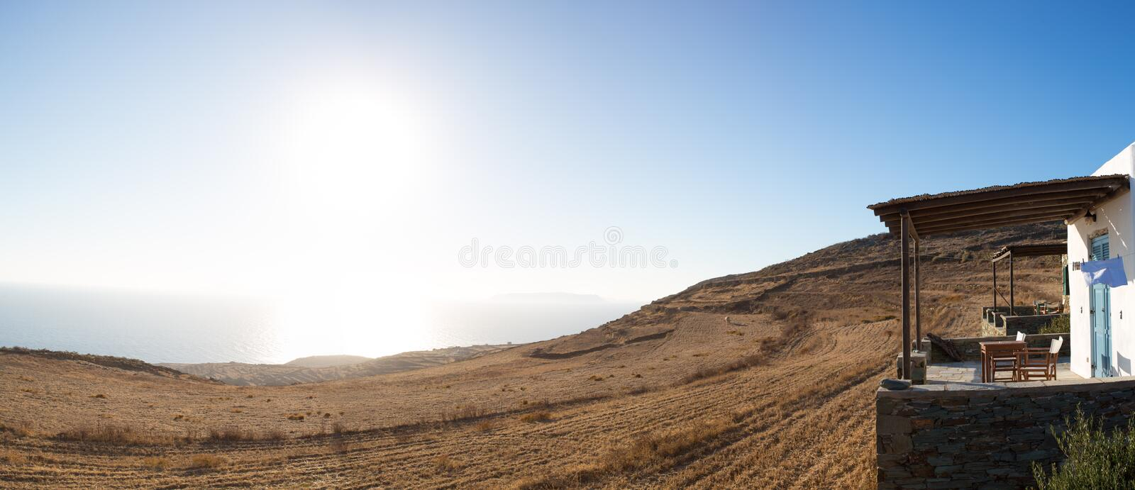 Beautiful View Of The Shoreline Of Folegandros Royalty Free Stock Photos