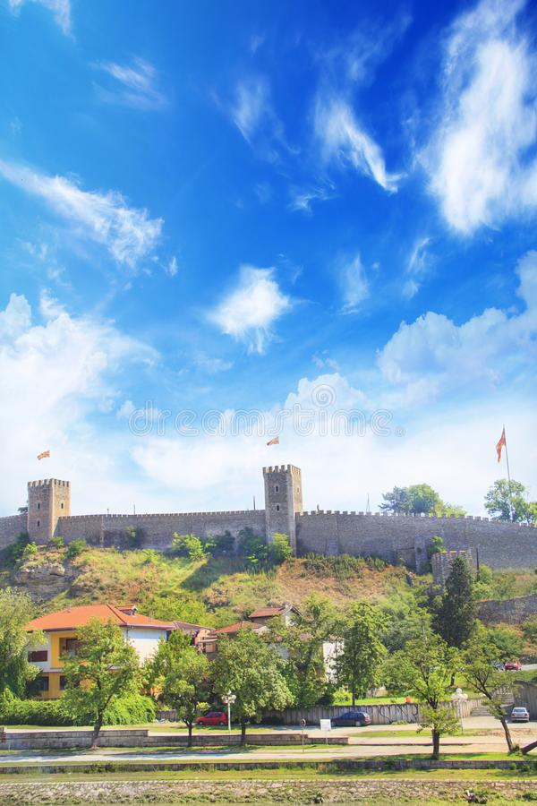 Beautiful view of the Skopje Fortress Kale Fortress in Skopje, Macedonia royalty free stock images