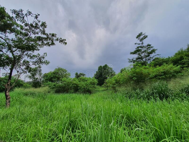 Beautiful view from south city road  tangerang west java indonesia royalty free stock photography