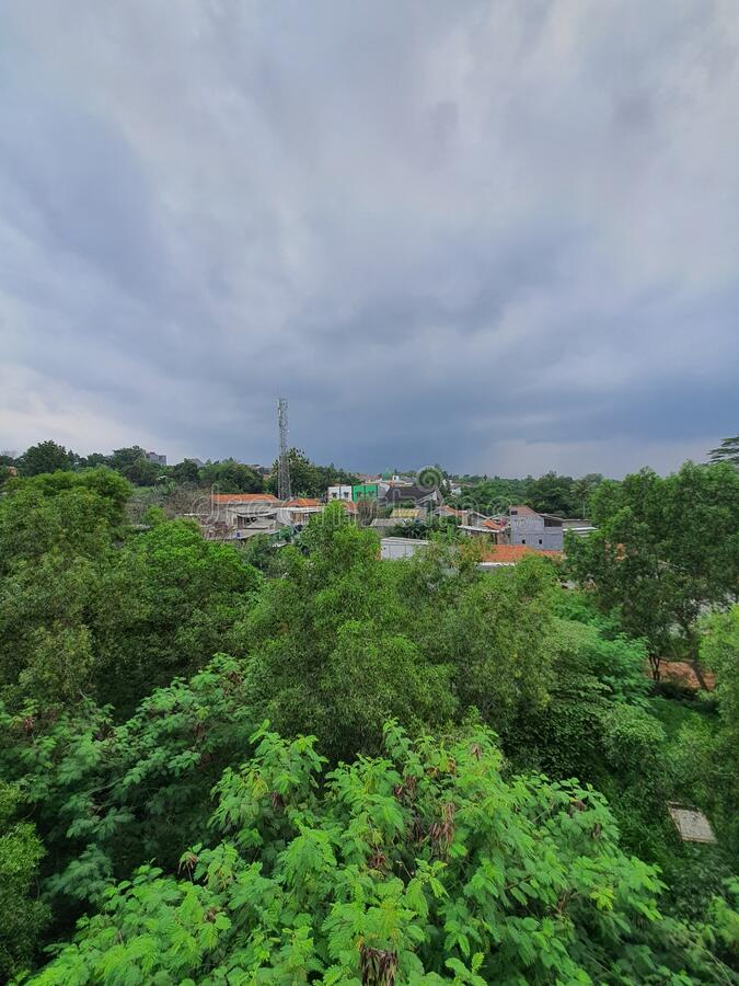 Beautiful view from south city road, West Java Indonesia royalty free stock images