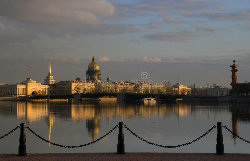Beautiful view of St Petersburg stock photos