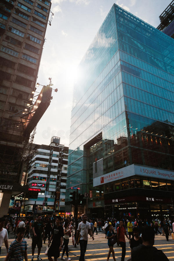 Beautiful view of street in Hongkong royalty free stock photography