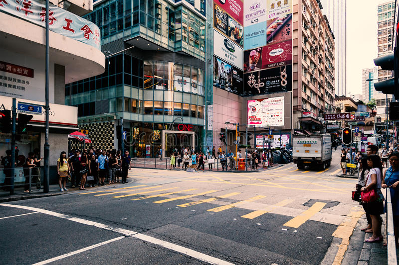 Beautiful view of street and shops royalty free stock images