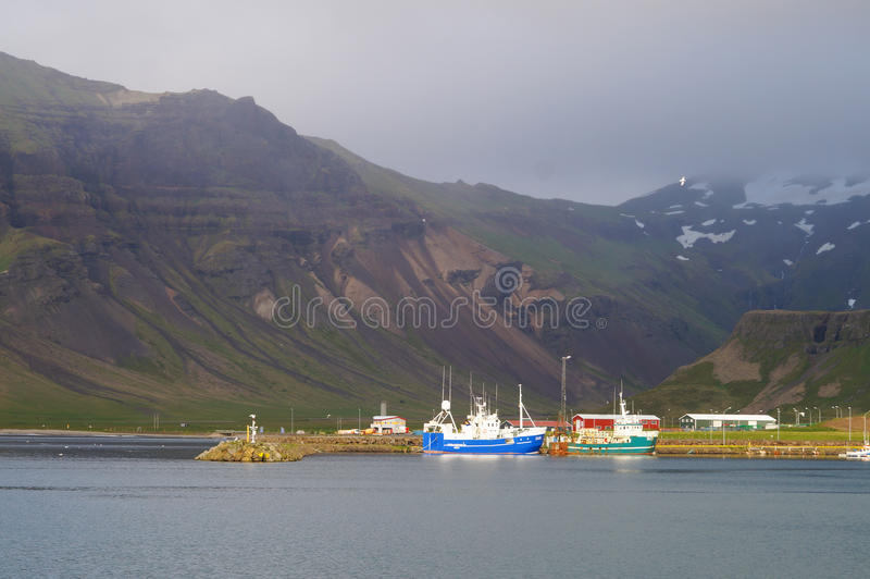 Beautiful view in summer,Iceland. stock photo