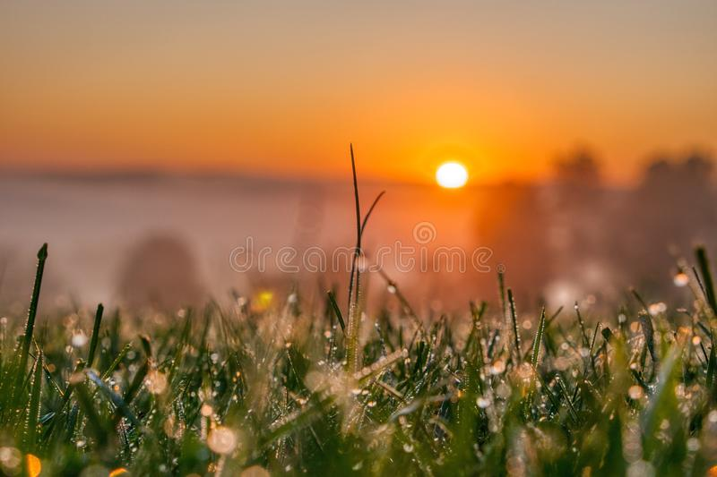 Beautiful view of the sunrise in Venango Valley, Northwest Pennsylvania. The beautiful view of the sunrise in Venango Valley, Northwest Pennsylvania royalty free stock images