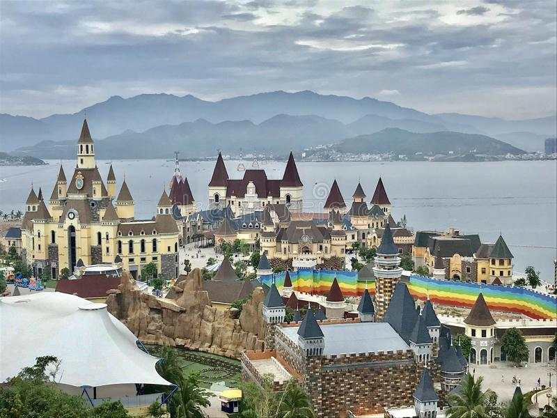 This is a beautiful view in Vinpeal Nha Trang Vietnam royalty free stock images