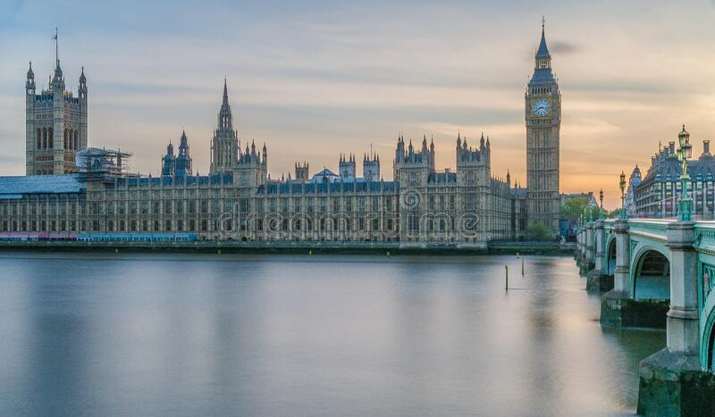 Beautiful view of Westminister in London United Kingdom UK.  royalty free stock photography