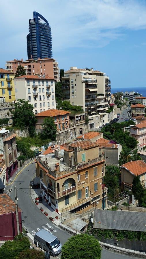Beautiful views of Beausoleil and Monaco. Nice view of Beausoleil (Alpes-Maritimes) and Monaco from a balcony royalty free stock photo