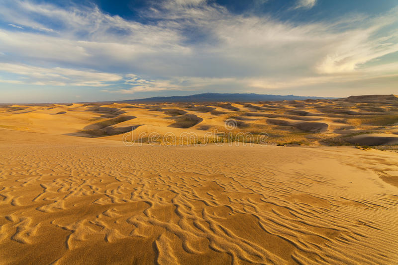 Beautiful views of the desert landscape. Gobi Desert. Mongolia.  royalty free stock photo
