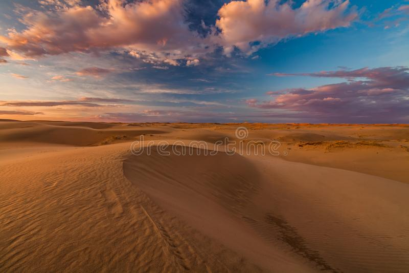 Beautiful views of the Gobi desert. Mongolia. Beautiful views of the Gobi desert. Mongolia royalty free stock photography