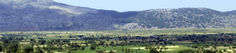 Beautiful views of the Lassithi plateau, Crete. Greece royalty free stock photos