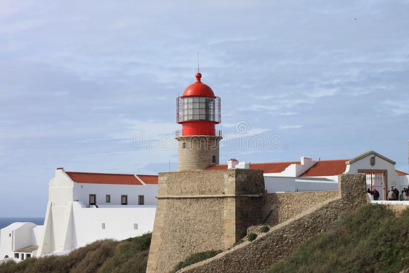 Lighthouse Cabo San Vicente royalty free stock images