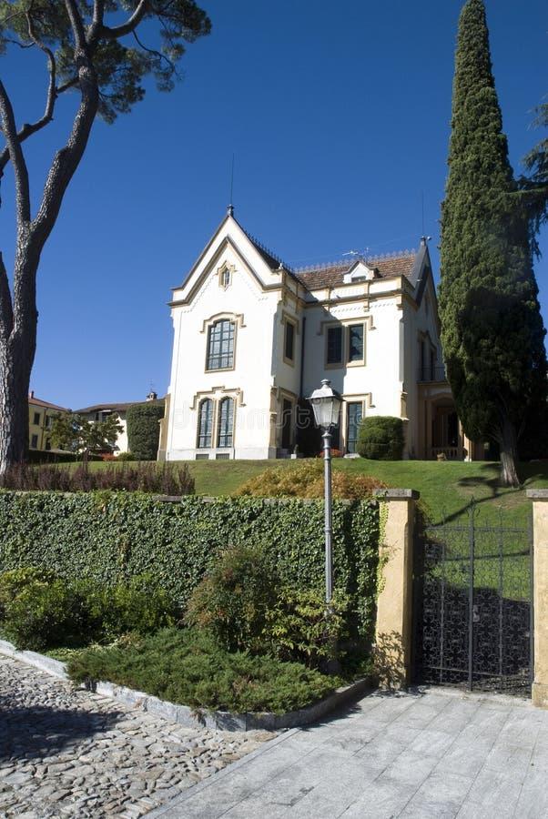 Beautiful villa stock image