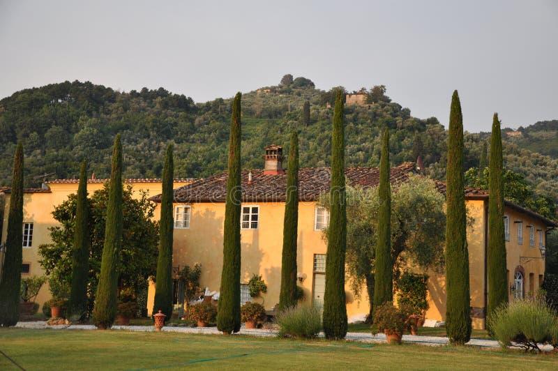 Beautiful villa Tuscany Italy stock images