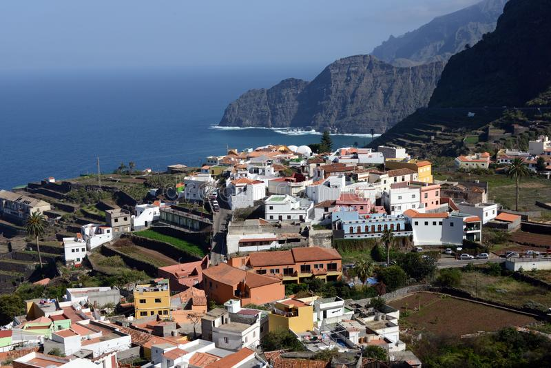 Agulo on Gomera island. Beautiful village of Agulo at the north coast of La Gomera royalty free stock photography