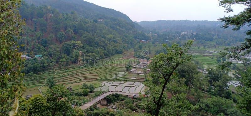 Beautiful village near palampur Himachal Pradesh. India royalty free stock photos