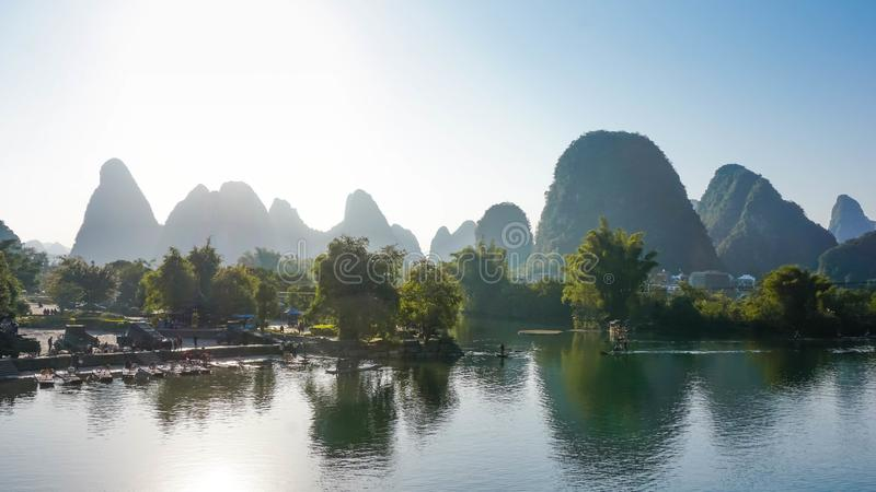 Beautiful village of Yangshuo, China royalty free stock images
