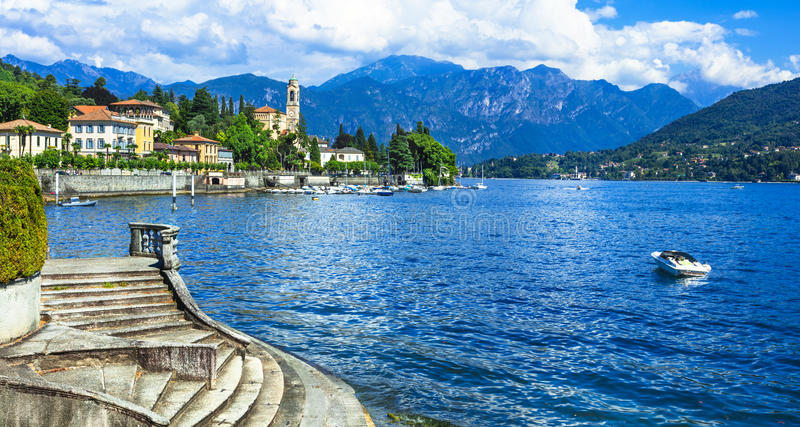 Beautiful villages of Lago di Como. Holidays in Italy - beautiful villages of Lago di Como, Tremezzina royalty free stock images