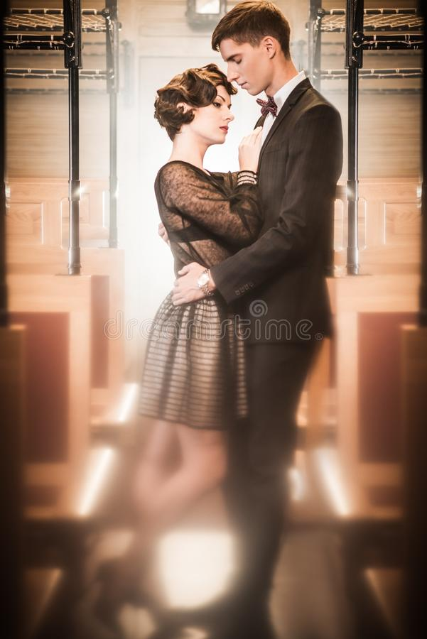 Download Beautiful vintage couple stock photo. Image of express - 34645062