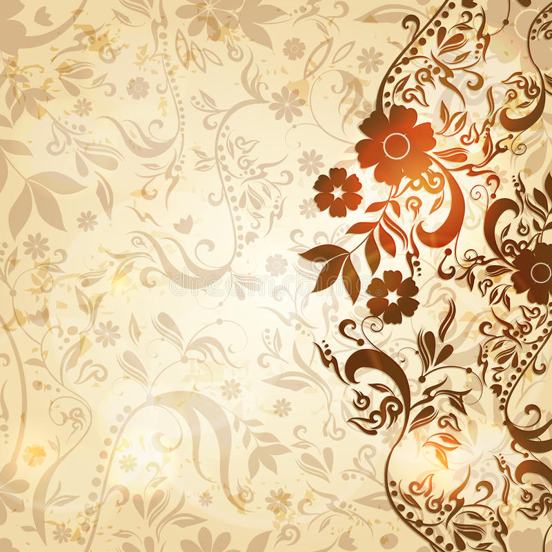 Download Beautiful Vintage Floral Retro Background Stock Vector - Illustration: 26660668