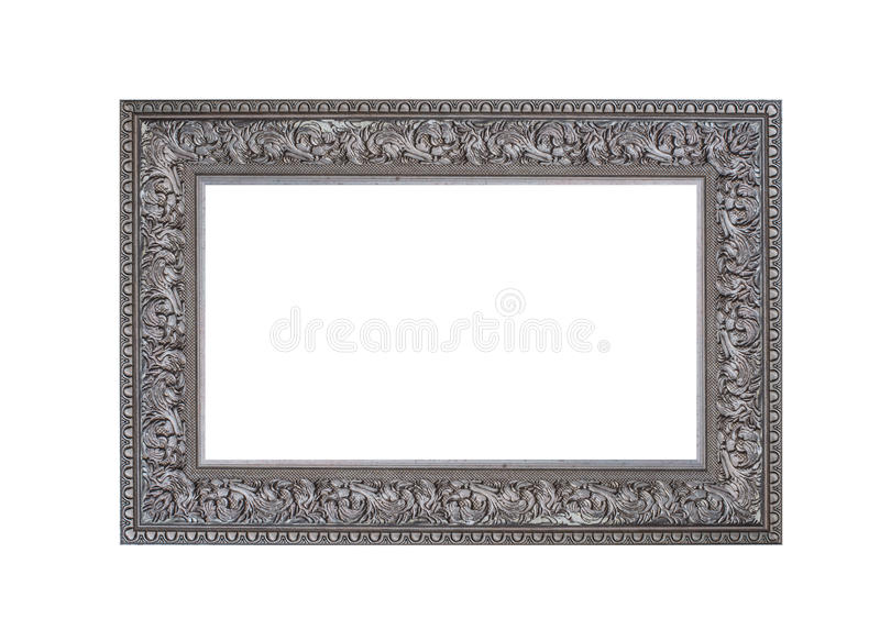 Beautiful vintage frame isolated on white background stock photos