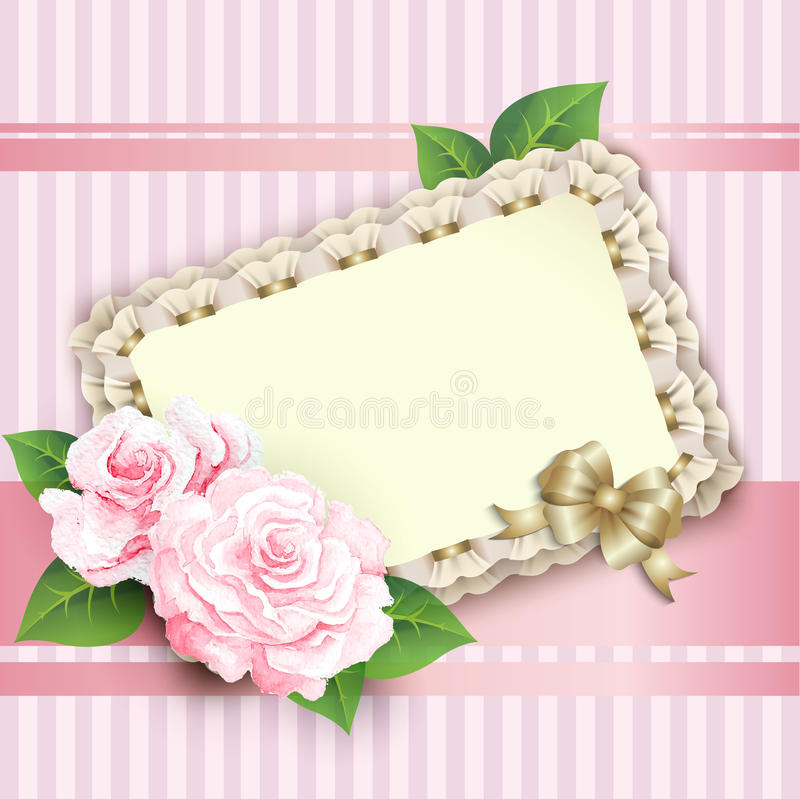 Download Beautiful Vintage Greeting Card Stock Vector