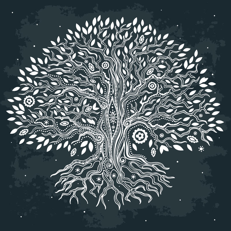 Free Beautiful Vintage Hand Drawn Tree Of Life Stock Photo - 31197490