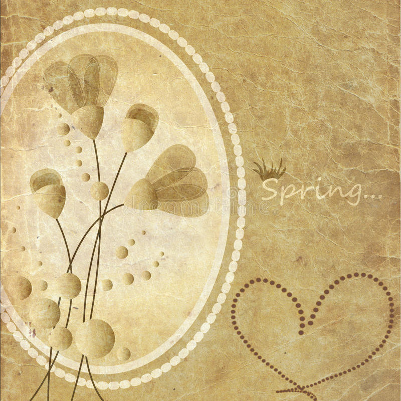 Beautiful vintage paper background with a flowers. vector illustration