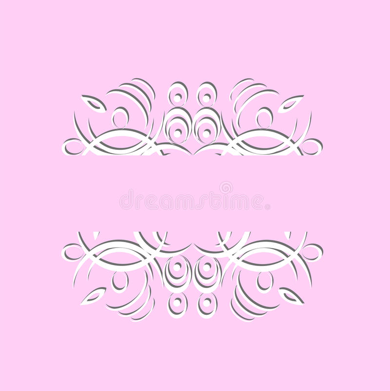 The beautiful vintage paper pattern on a pink background royalty free illustration