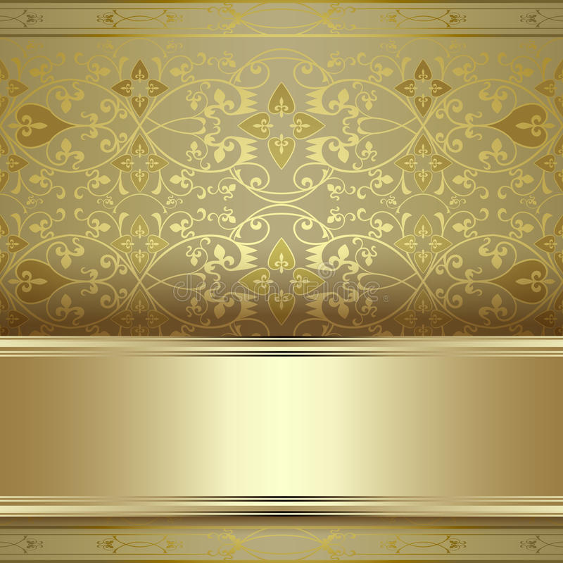 Beautiful Vintage Seamless Pattern Background Stock Vector