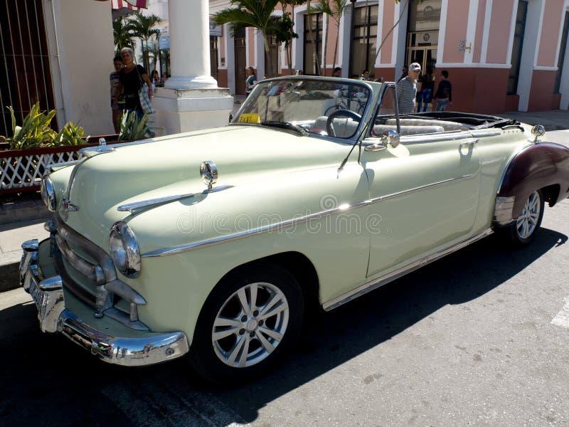 Beautiful vintage taxi. stock photo