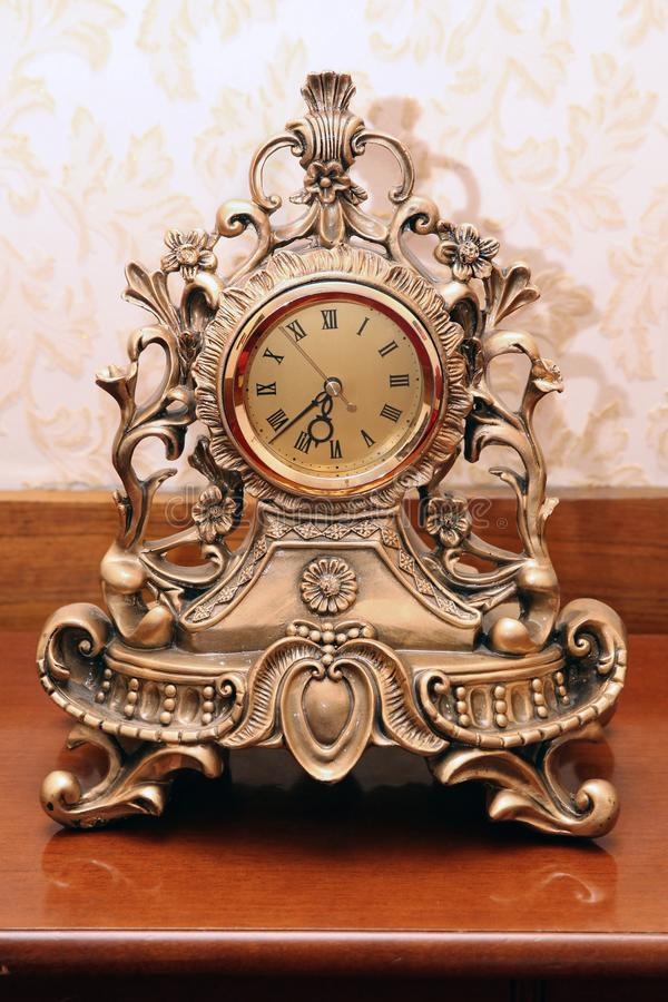 Vintage watch gold colour royalty free stock photo