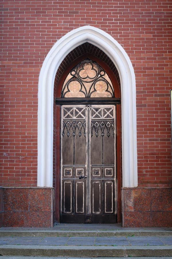 Beautiful vintage, wrought iron door stock photos