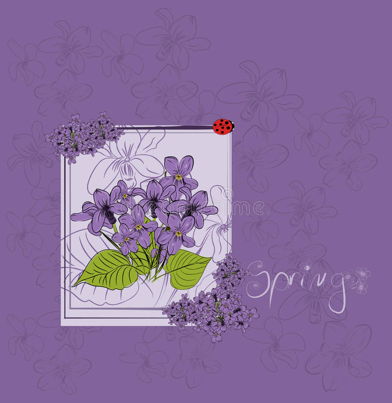 Download Beautiful violet card stock vector. Image of creative - 18221927