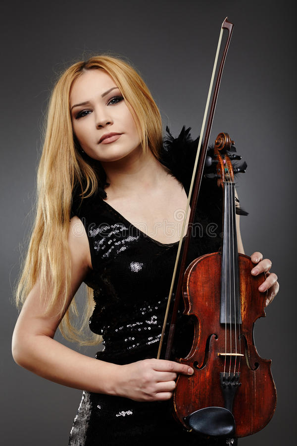 Download Beautiful violin player stock image. Image of grace, concert - 38962899