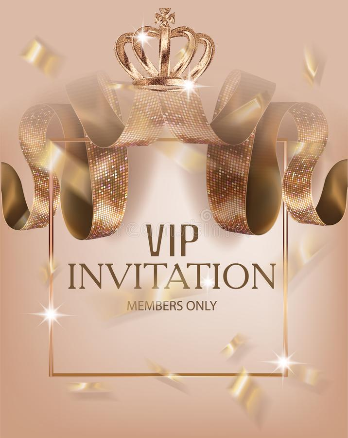 Beautiful VIP Invitation Banner With Silk Ribbons With Pattern ...
