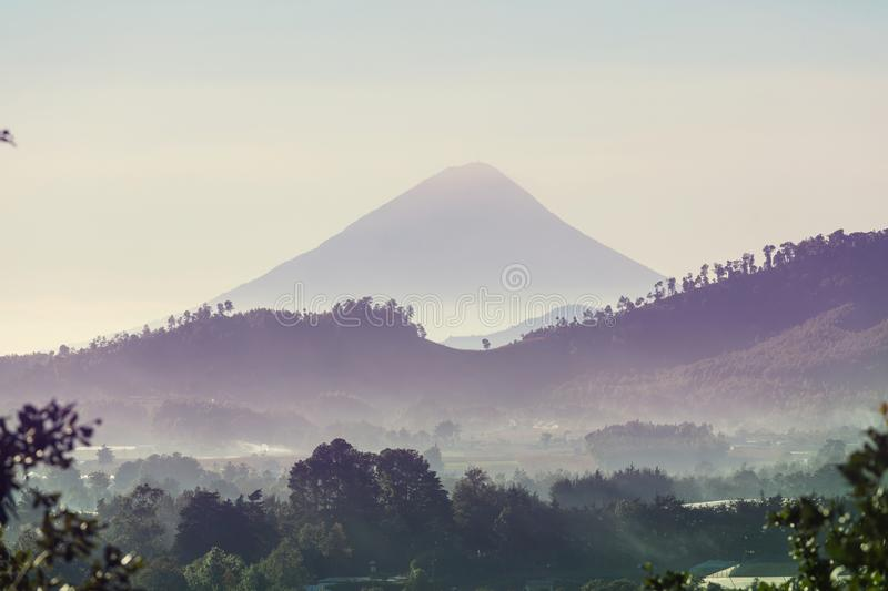 Volcano in Guatemala stock photography