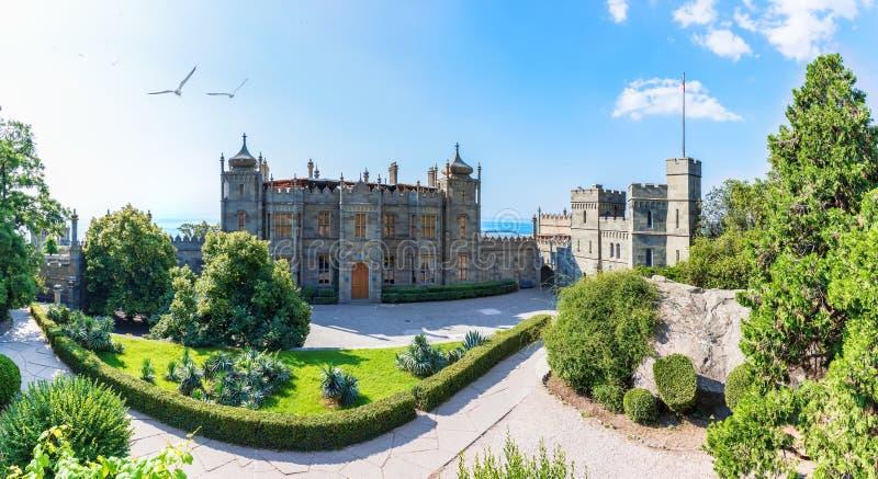 Beautiful Vorontsov Palace by the sea, Crimea, Ukraine. Beautiful Vorontsov Palace by the sea in Crimea, Ukraine royalty free stock image