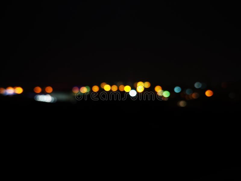 Beautiful wallpaper or background of bokeh city lights at night royalty free stock image