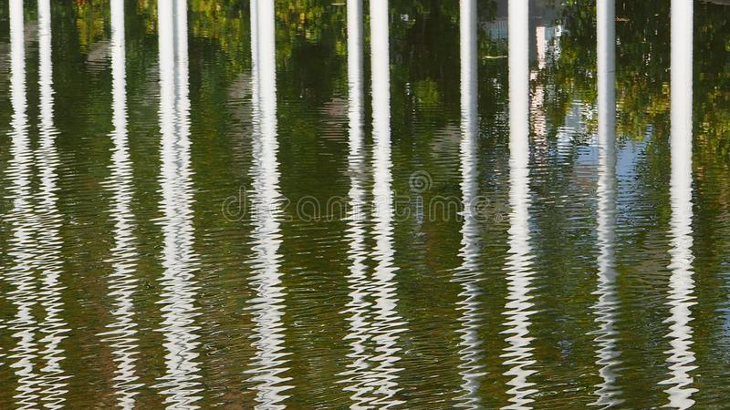 A beautiful water reflection in the city. Beautiful water reflection city lisbon stock photo