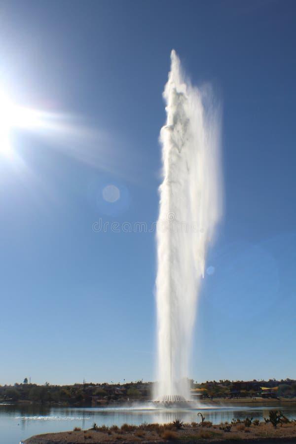 Beautiful water spout stock photo