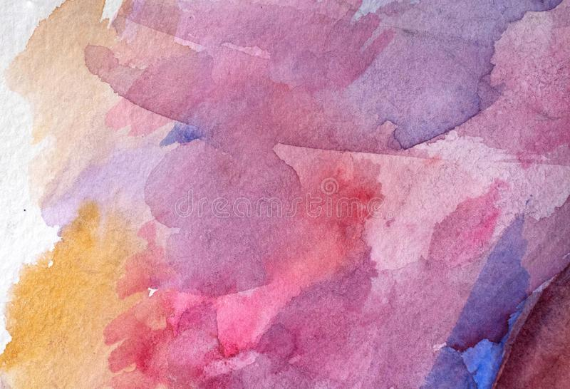 Beautiful watercolor background burgundy. Abstract watercolor painted background art, paper stock images
