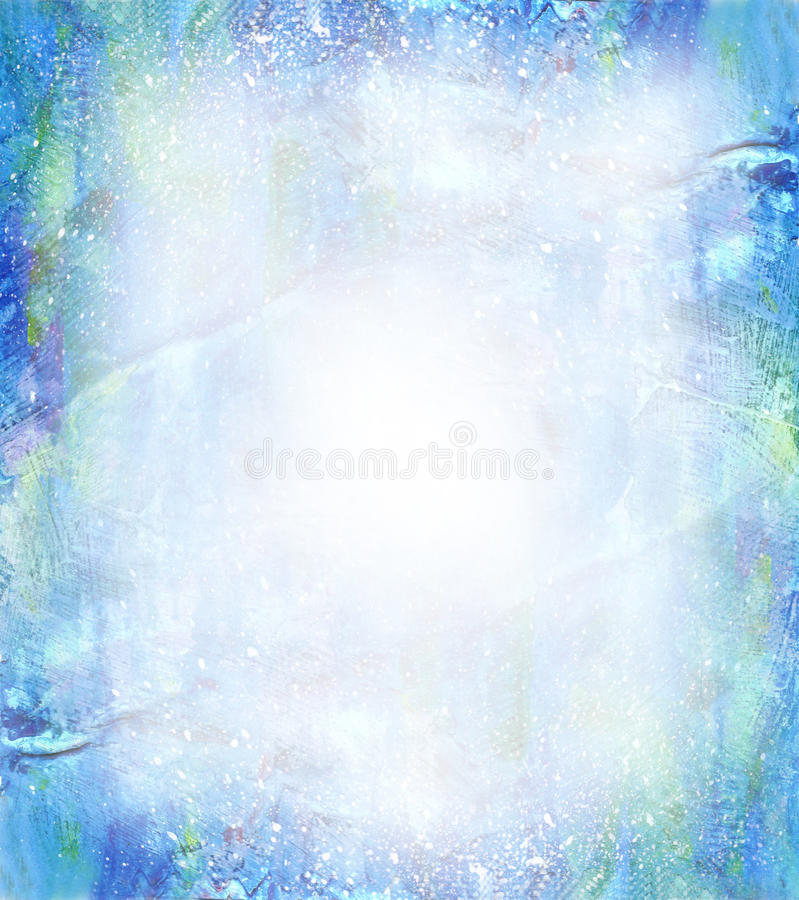 Beautiful watercolor background in soft blue royalty free illustration